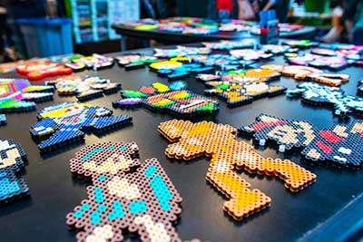 Gaming related crafts on table